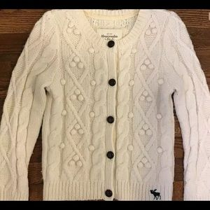 Abercrombie & Fitch cable Knit Cardigan Small